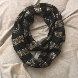 Express Black and Gold Infinity Scarf